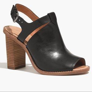 MADEWELL Sylvain Black Leather Heel